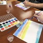 Ross residents completed such beautiful watercolor paintings