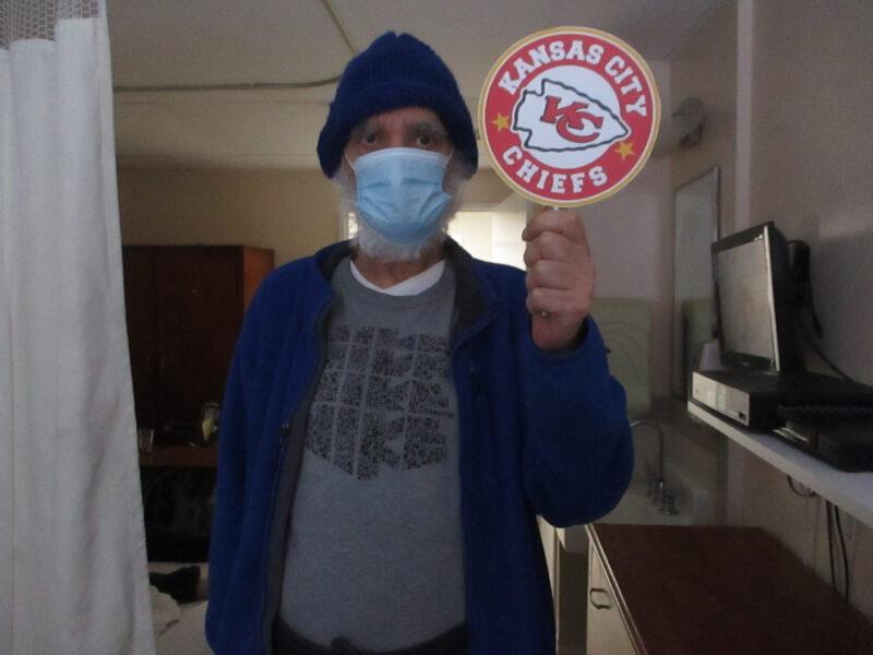 Male Kansas City Chiefs fan