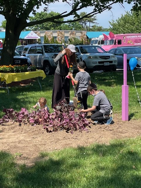 Working in the garden at the 2021 Community Event