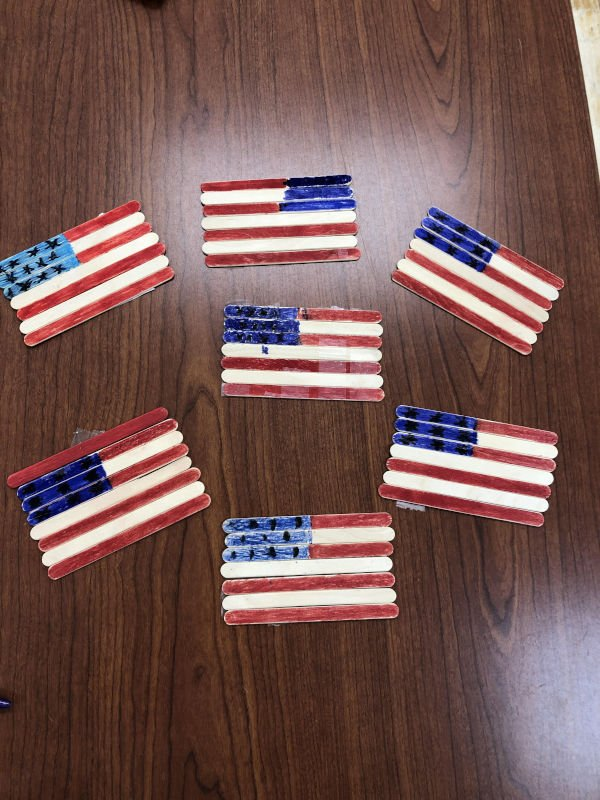 Flags residents made